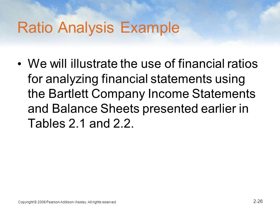 Ratio Analysis Example