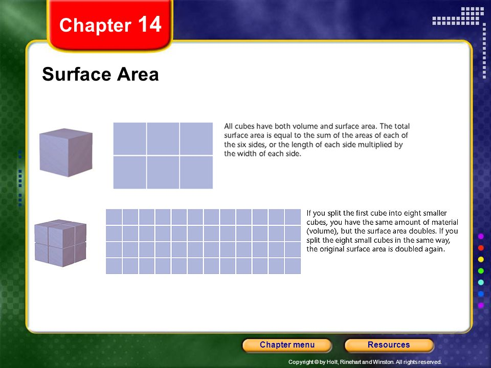 Chapter 14 Surface Area