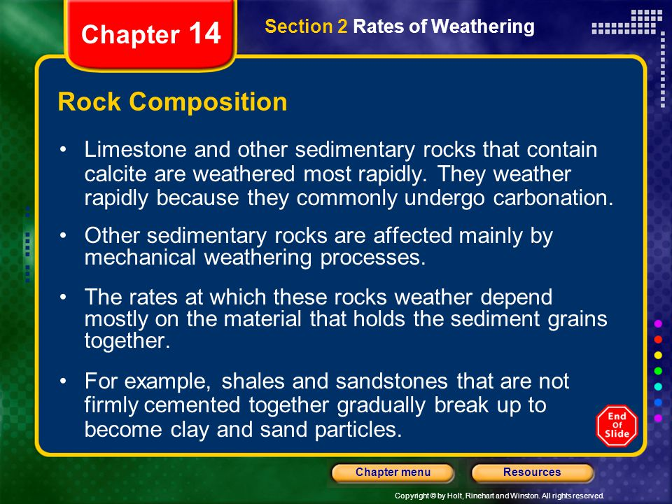 Chapter 14 Rock Composition