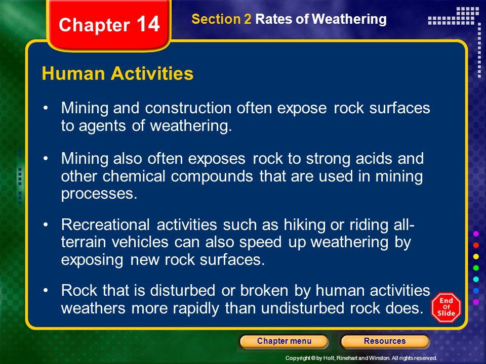 Chapter 14 Human Activities
