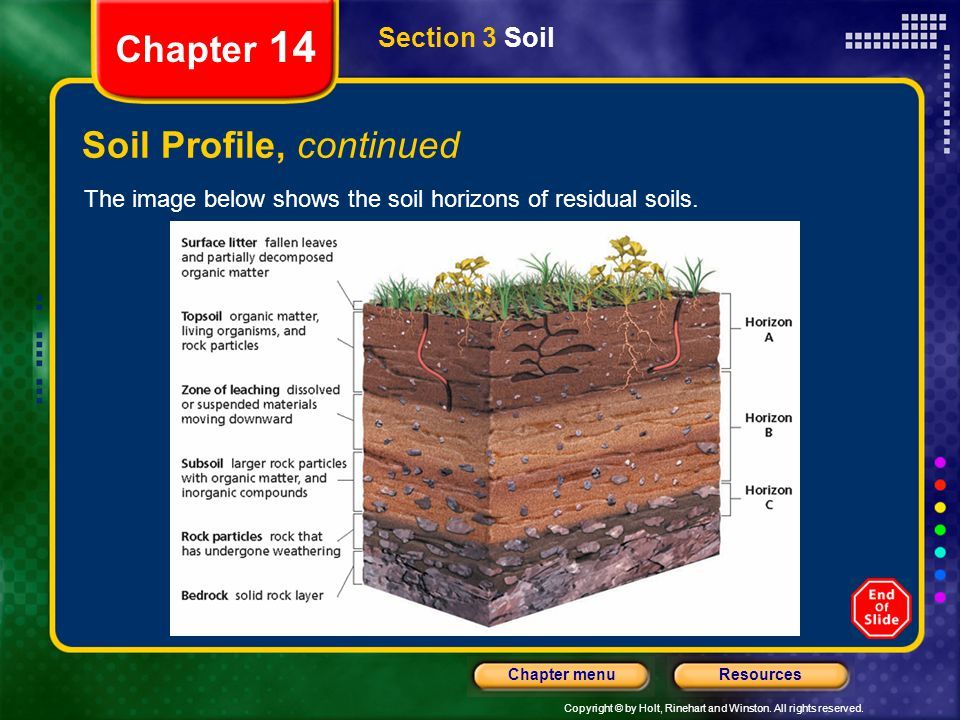 Soil Profile, continued