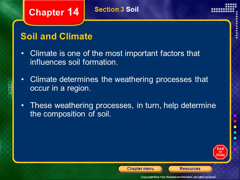 Chapter 14 Soil and Climate