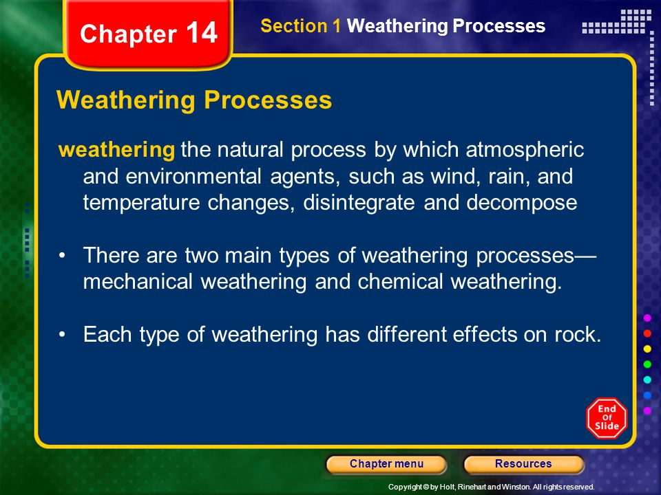 Chapter 14 Weathering Processes