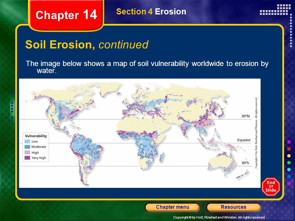 Soil Erosion, continued