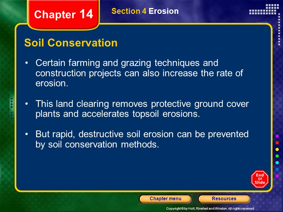 Chapter 14 Soil Conservation