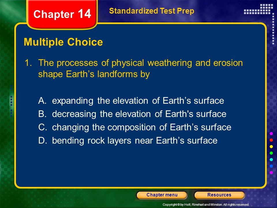 Chapter 14 Multiple Choice