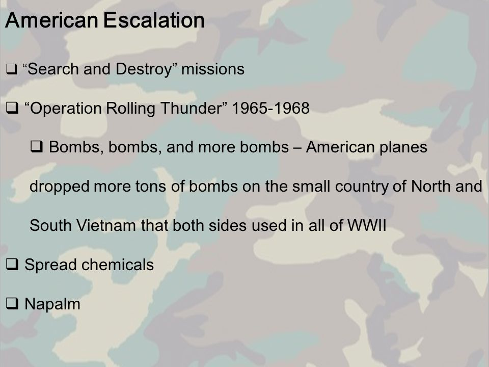 American Escalation Operation Rolling Thunder 1965-1968