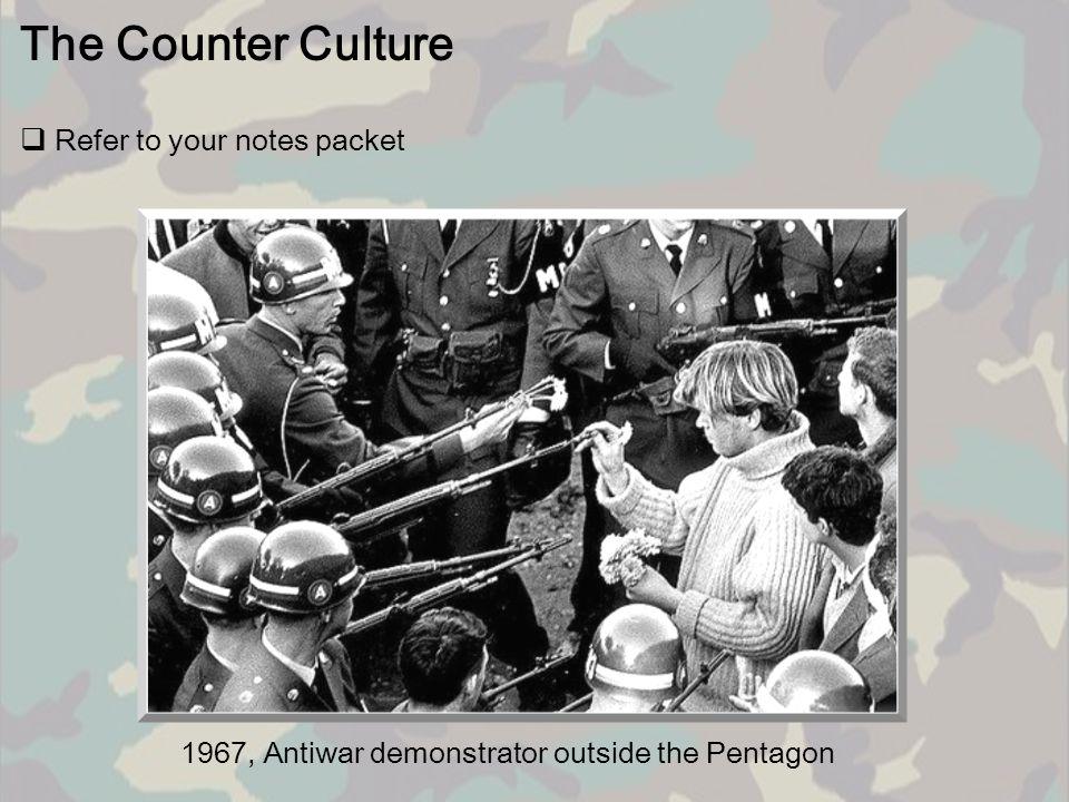 1967, Antiwar demonstrator outside the Pentagon