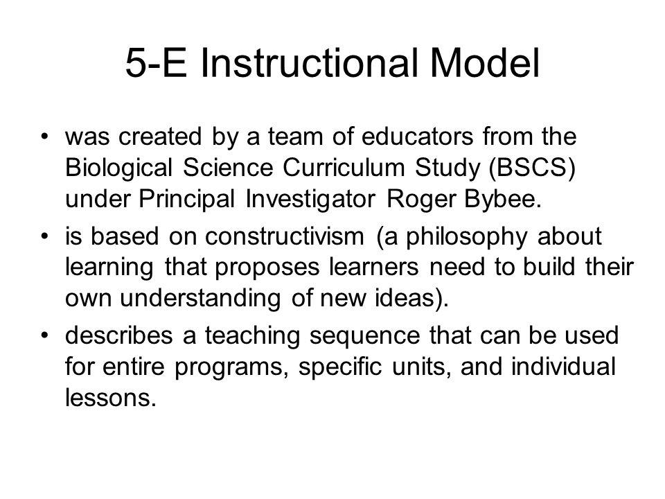 5-E Instructional Model