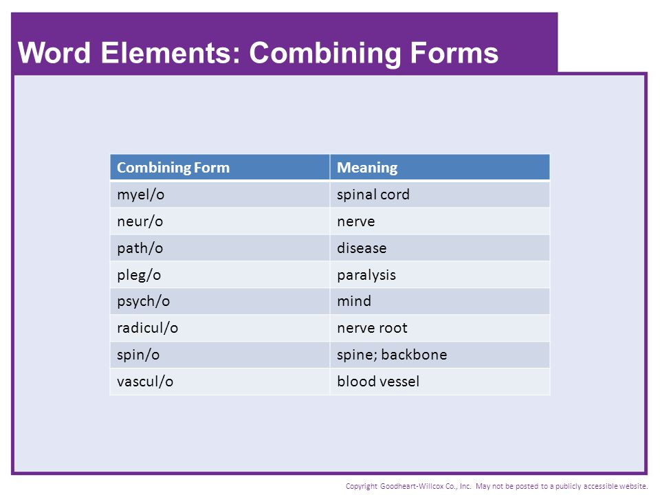 Word Elements: Combining Forms