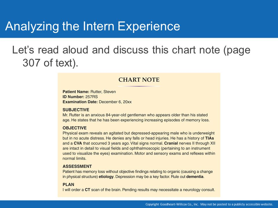 Analyzing the Intern Experience