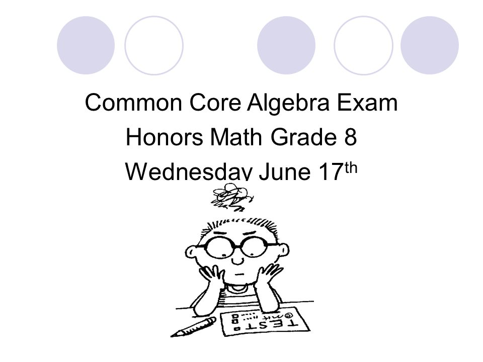 Common Core Algebra Exam