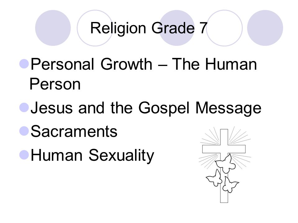 Personal Growth – The Human Person Jesus and the Gospel Message
