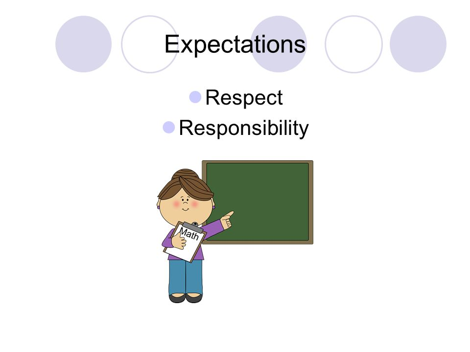 Expectations Respect Responsibility