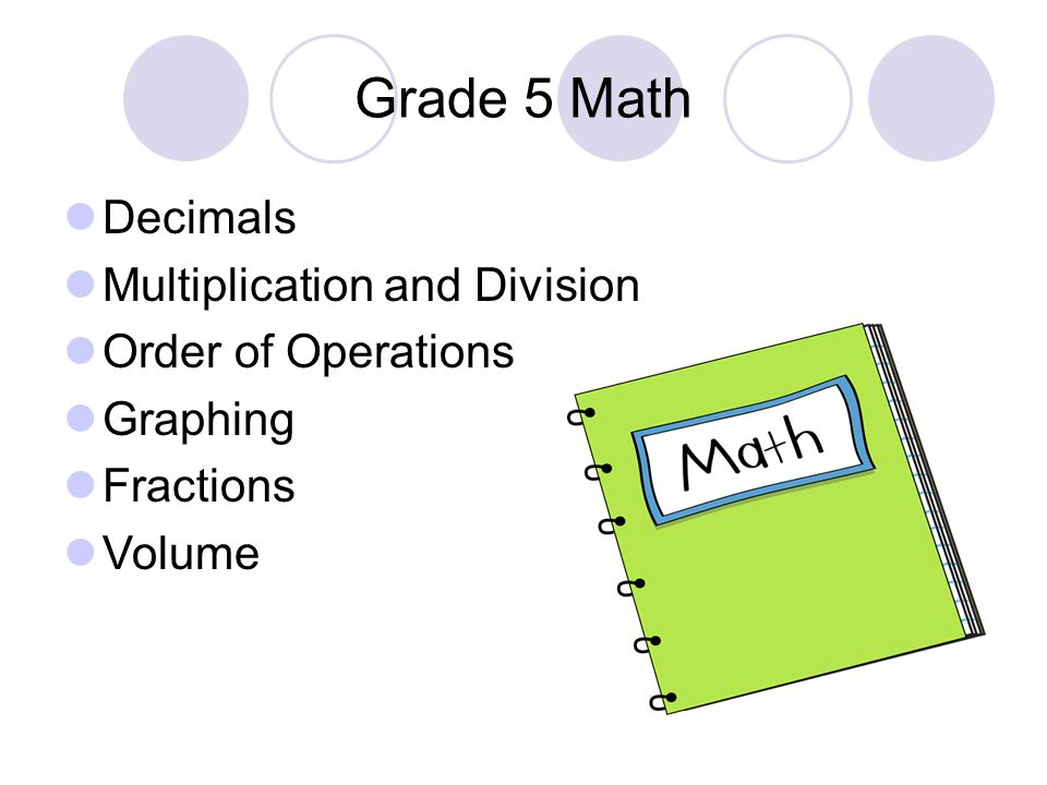 Grade 5 Math Decimals Multiplication and Division Order of Operations