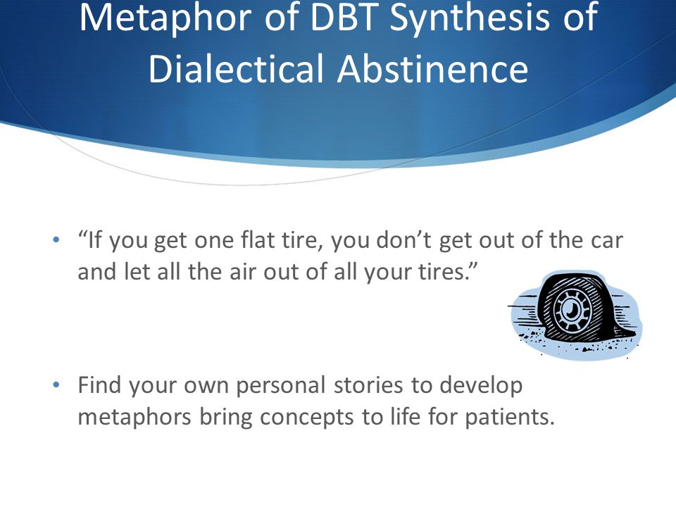 Metaphor of DBT Synthesis of Dialectical Abstinence