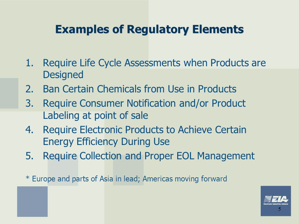 Examples of Regulatory Elements