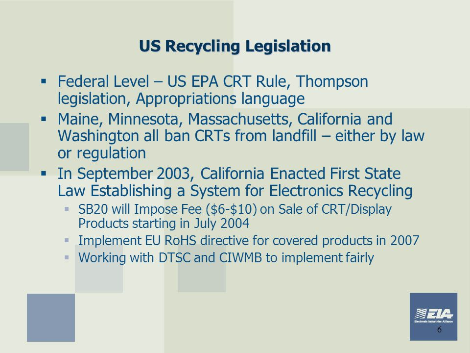 US Recycling Legislation