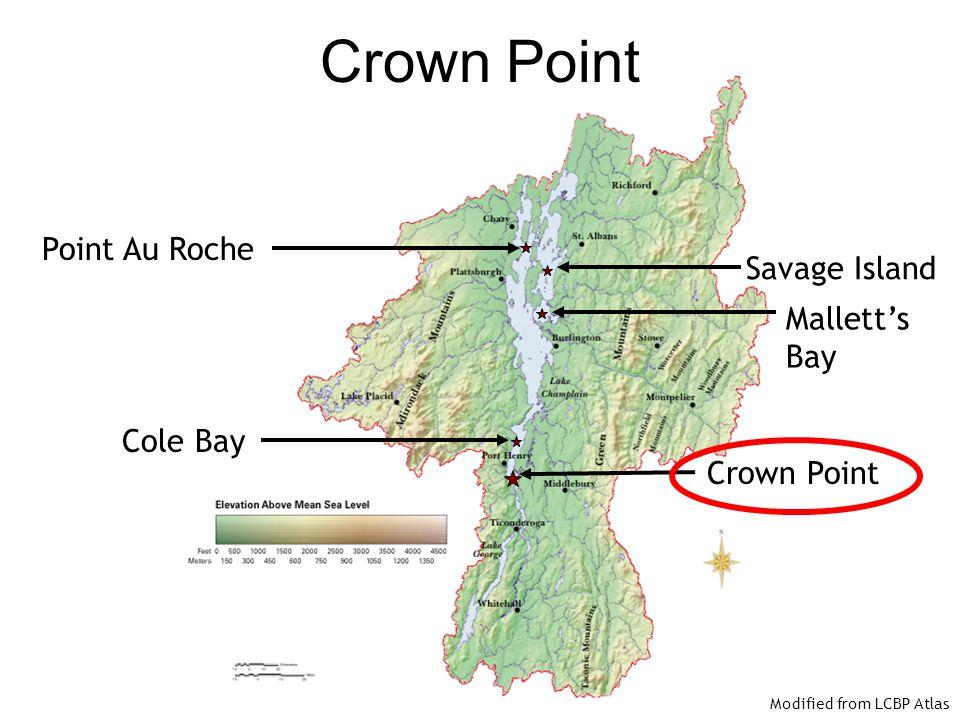 Crown Point Point Au Roche Savage Island Mallett's Bay Cole Bay