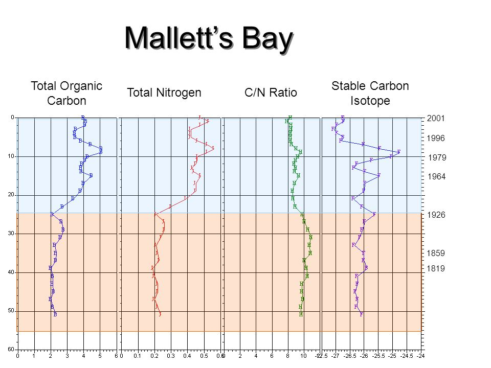 Mallett's Bay Total Organic Carbon Stable Carbon Isotope