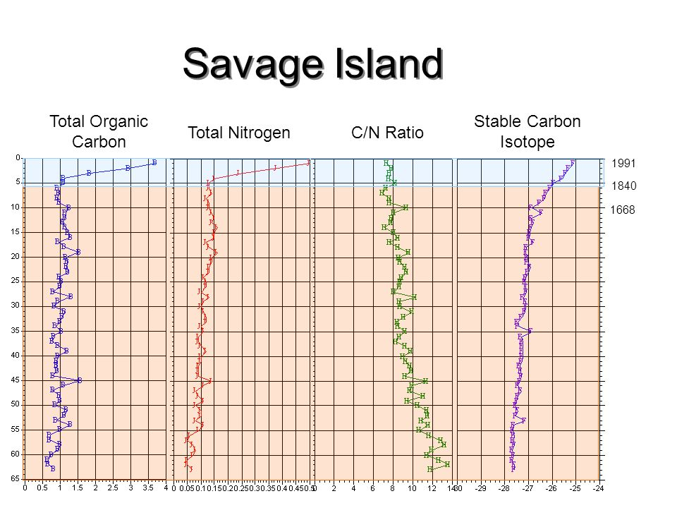 Savage Island Total Organic Carbon Stable Carbon Isotope