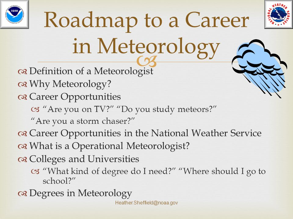 Roadmap to a Career in Meteorology