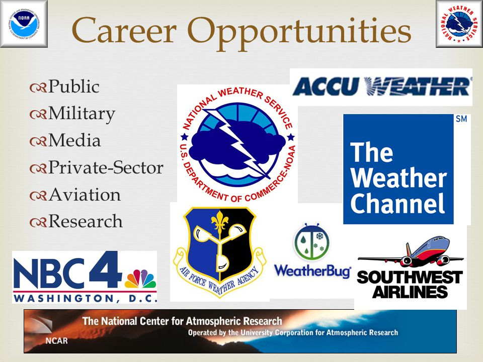 Career Opportunities Public Military Media Private-Sector Aviation