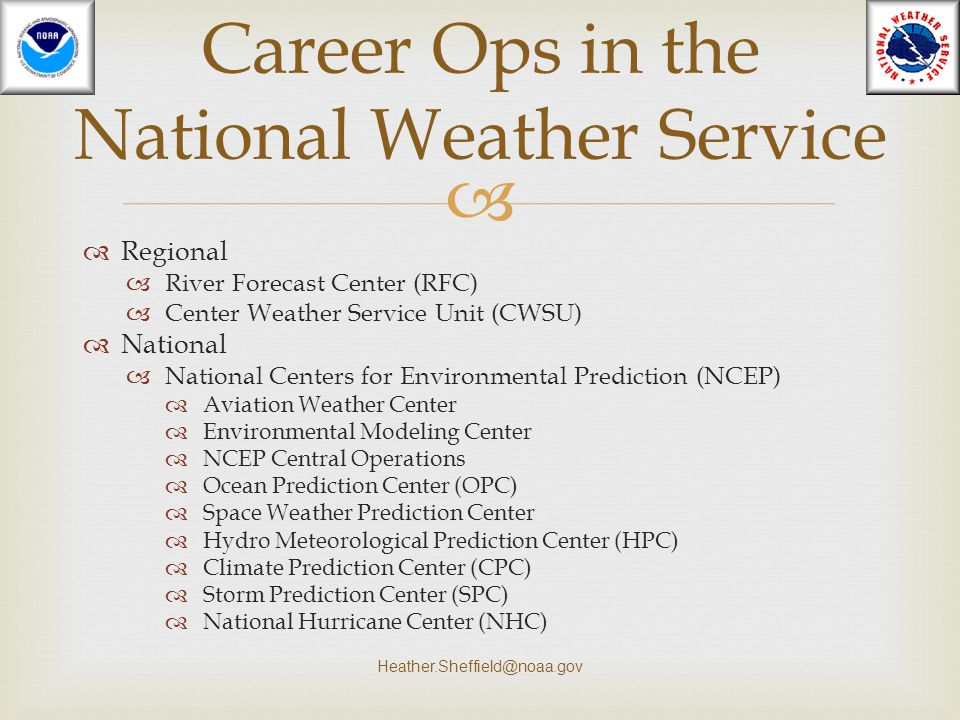 Career Ops in the National Weather Service