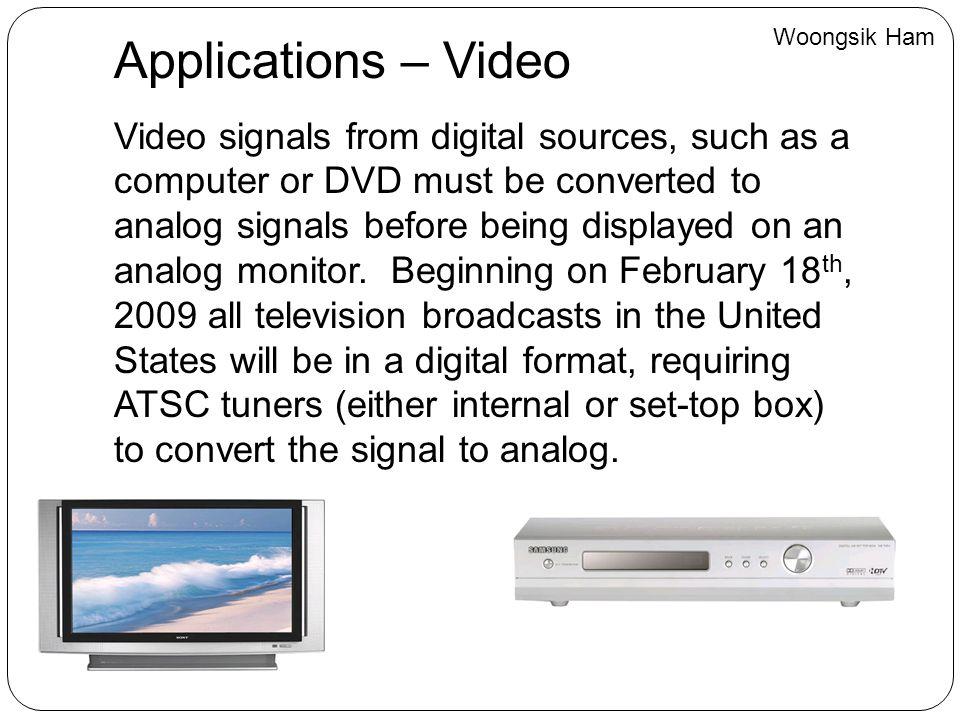 Woongsik Ham Applications – Video.