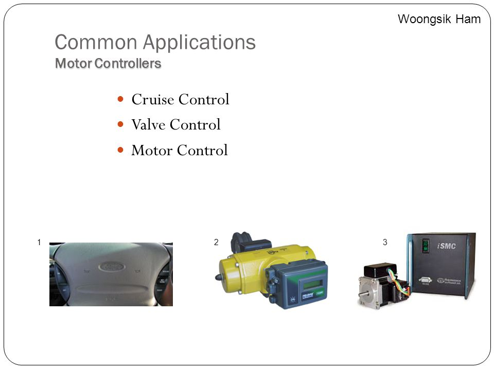 Common Applications Motor Controllers