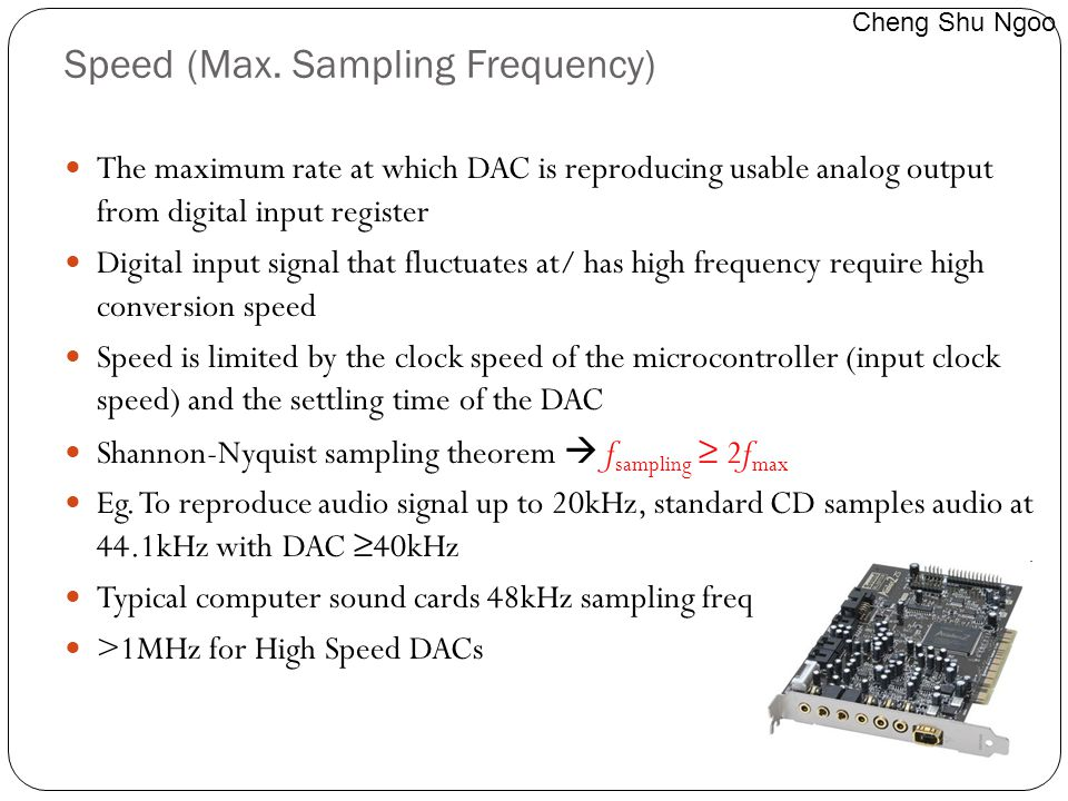 Speed (Max. Sampling Frequency)