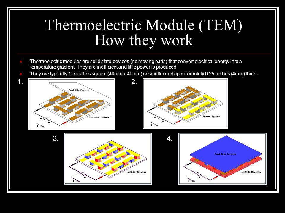 Thermoelectric Module (TEM) How they work
