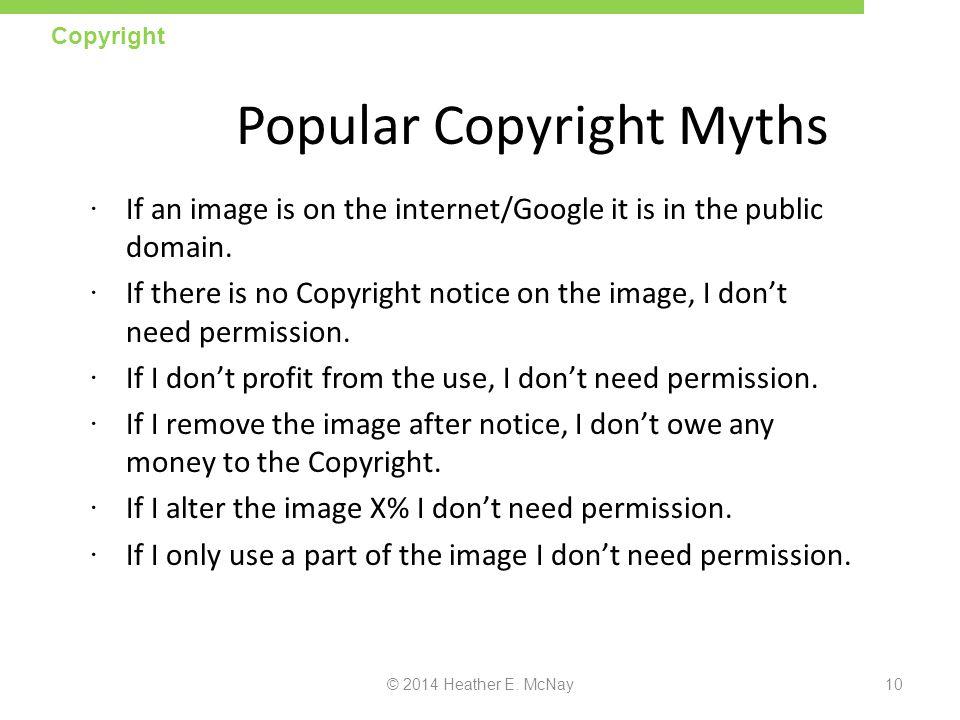Popular Copyright Myths
