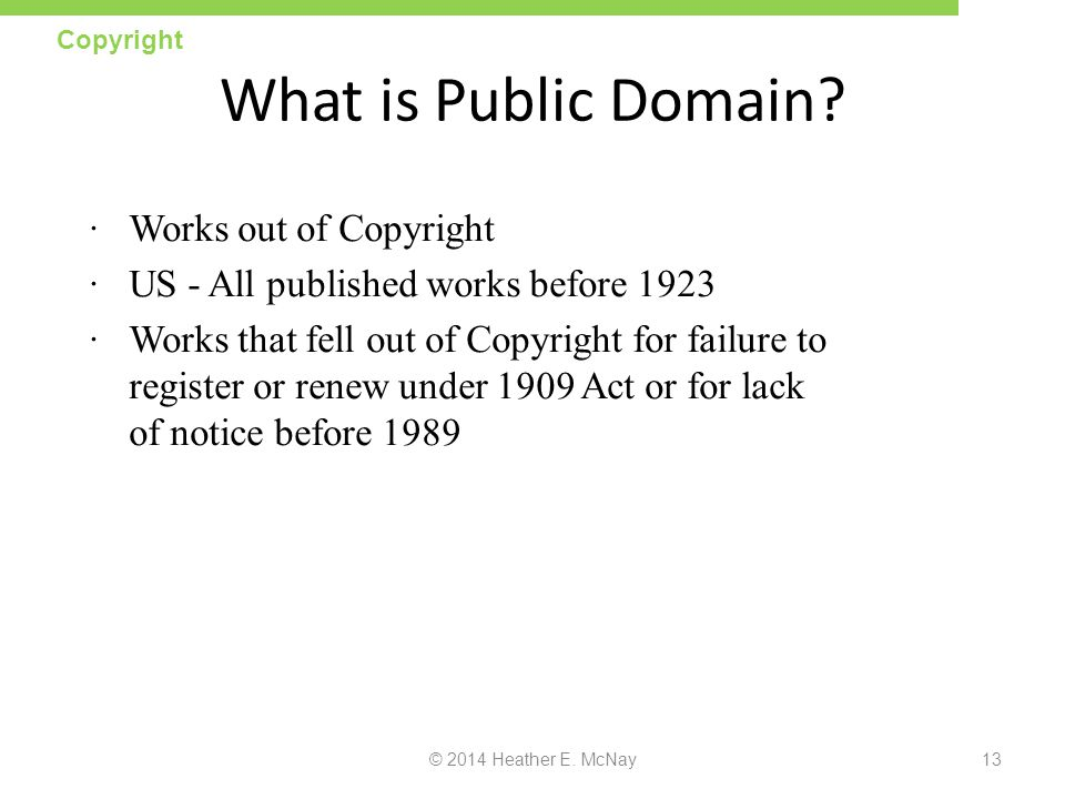 What is Public Domain Works out of Copyright