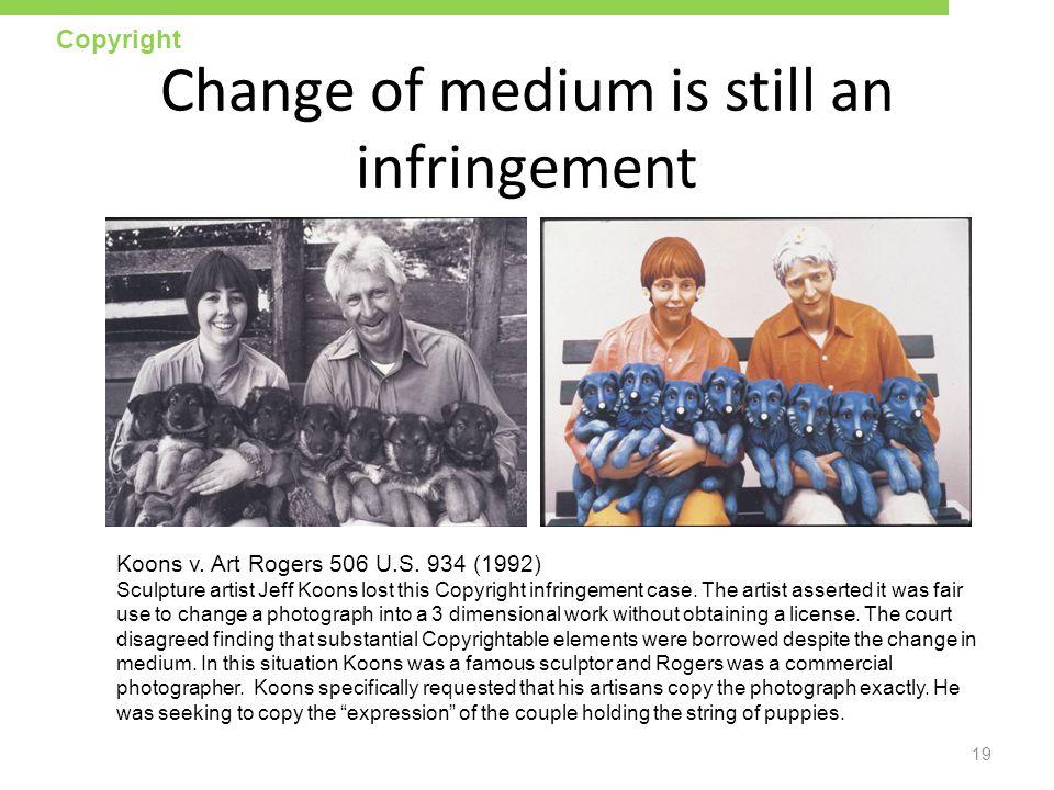 Change of medium is still an infringement