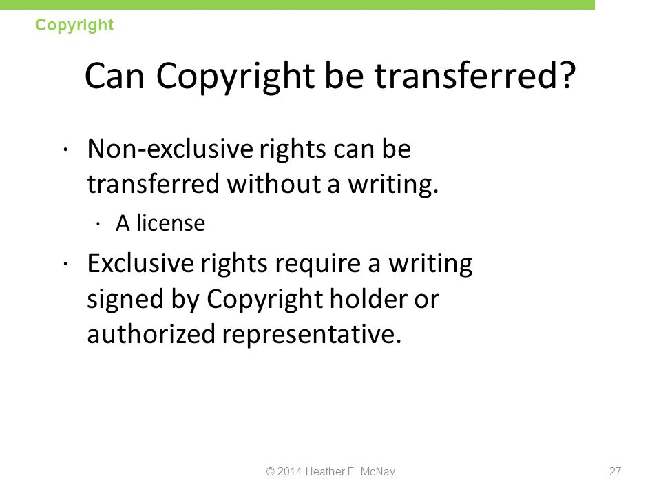 Can Copyright be transferred