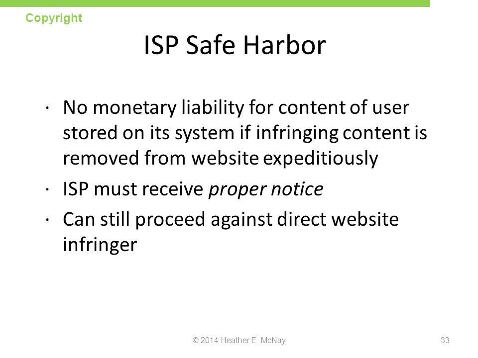 Copyright ISP Safe Harbor.