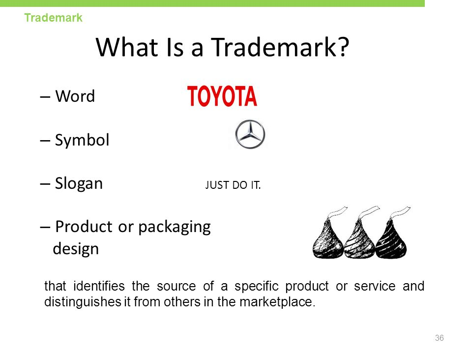 What Is a Trademark Word Symbol Slogan JUST DO IT.