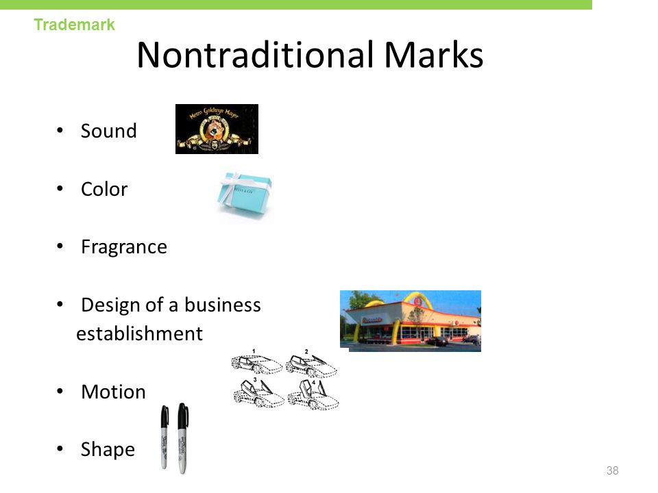 Nontraditional Marks Sound Color Fragrance Design of a business