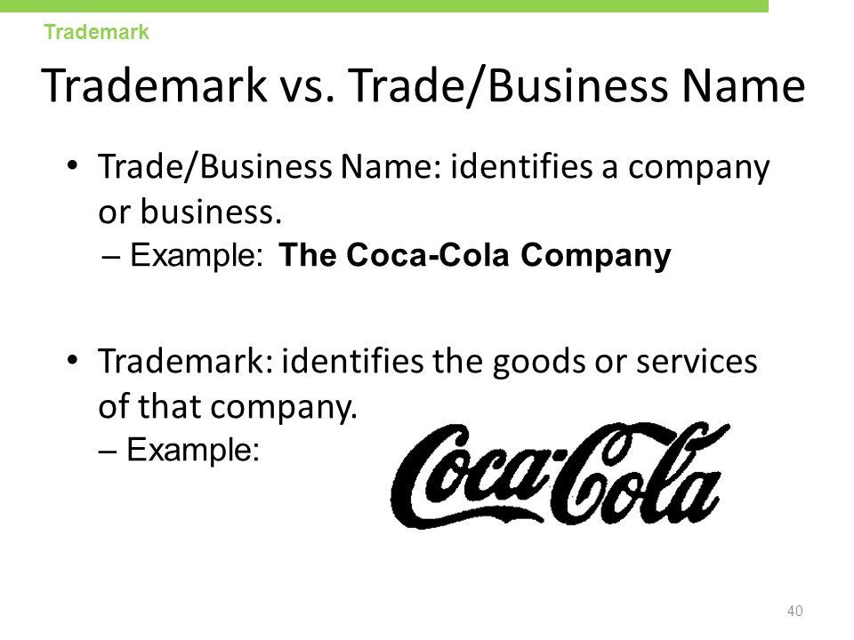 Trademark vs. Trade/Business Name