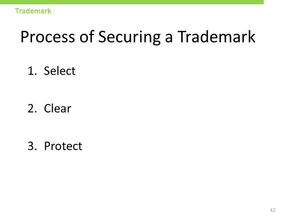 Process of Securing a Trademark