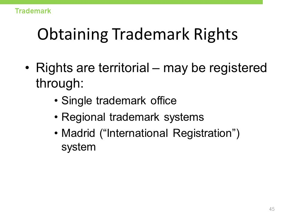 Obtaining Trademark Rights