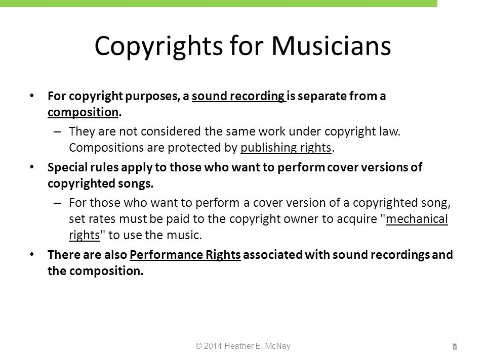Copyrights for Musicians