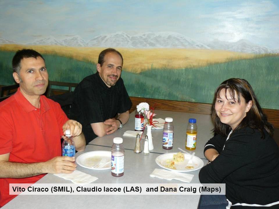Vito Ciraco (SMIL), Claudio Iacoe (LAS) and Dana Craig (Maps)