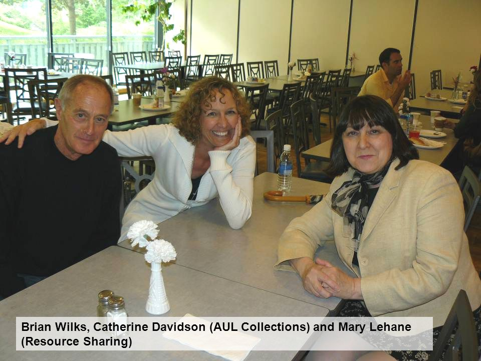 Brian Wilks, Catherine Davidson (AUL Collections) and Mary Lehane (Resource Sharing)