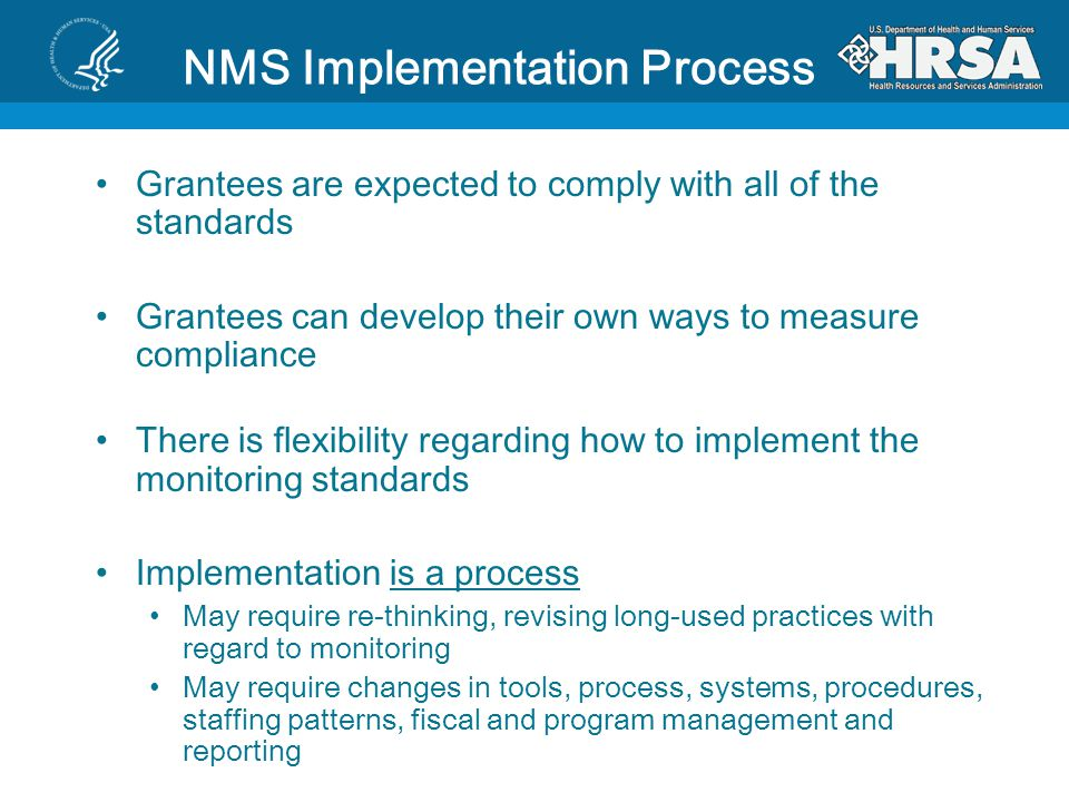 NMS Implementation Process