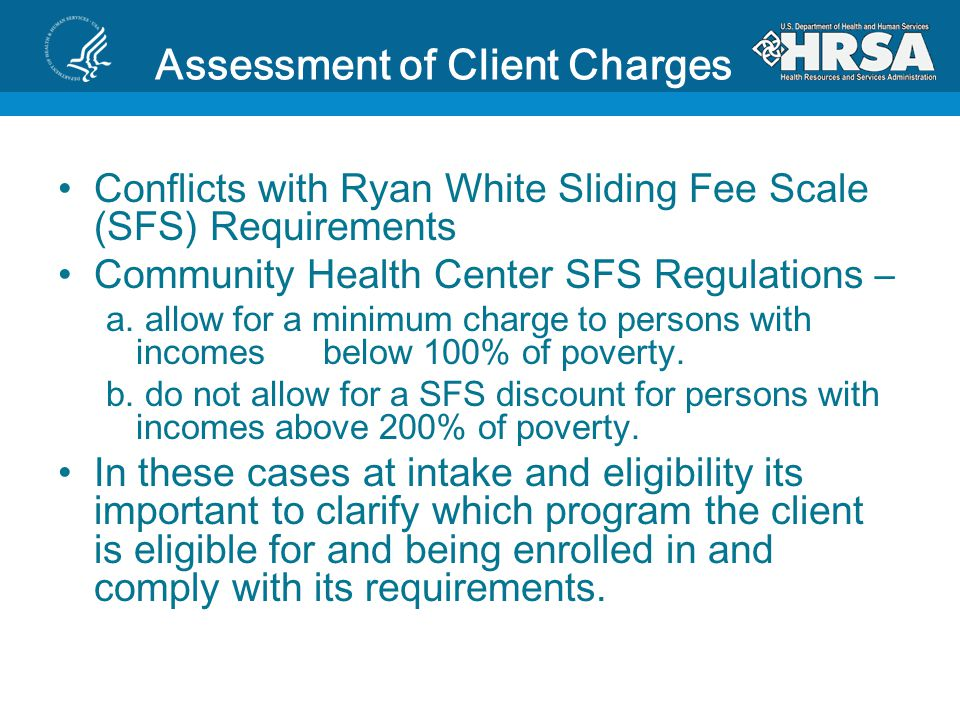 Assessment of Client Charges