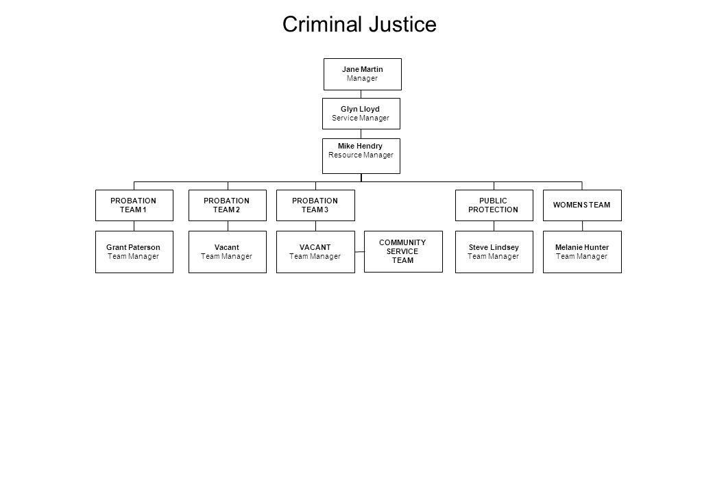 Criminal Justice Jane Martin Manager Glyn Lloyd Service Manager