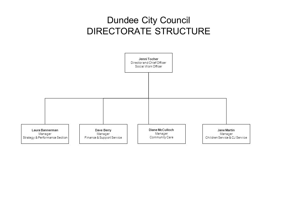 Dundee City Council DIRECTORATE STRUCTURE