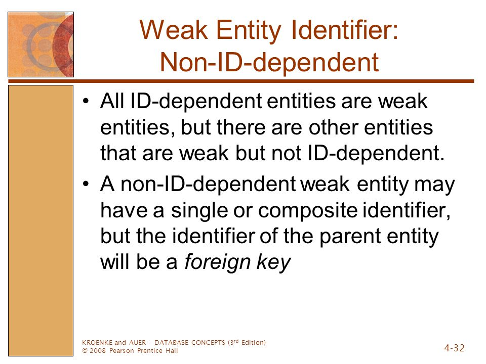Weak Entity Identifier: Non-ID-dependent